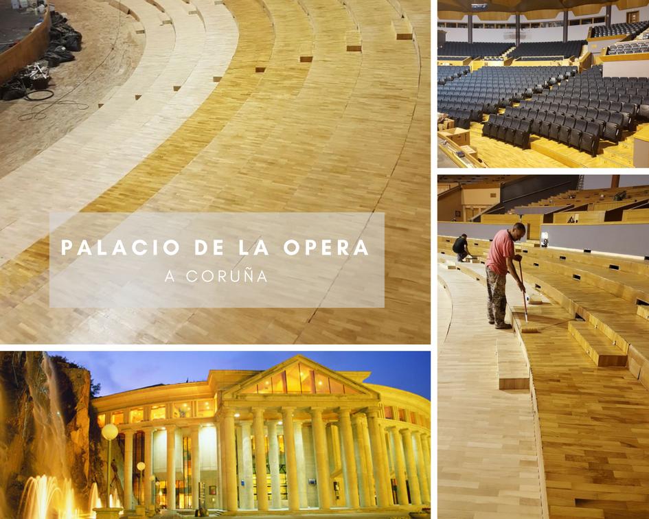 Restauración de suelos de Palacio de la Ópera de A Coruña