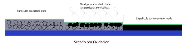 proceso de secado por oxidación