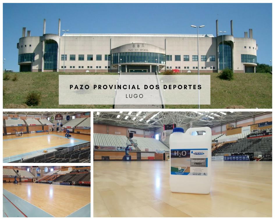 Restauración de suelos en el Pazo Provincial Dos Deportes de Lugo