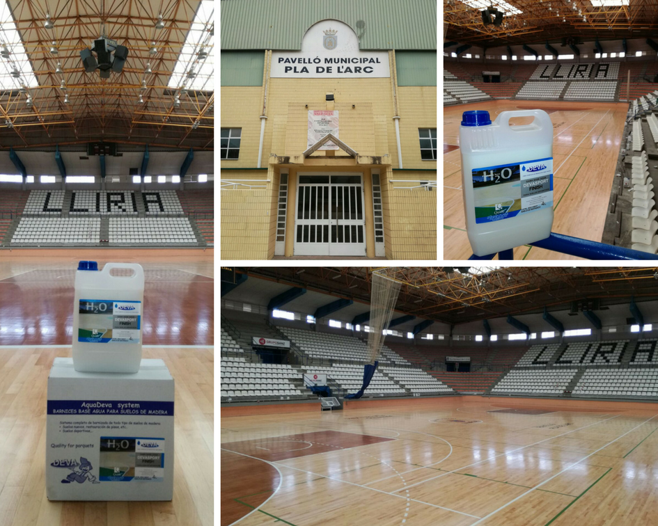 Pabellón deportivo Lliria con renovado con producto ignífugo Devasport