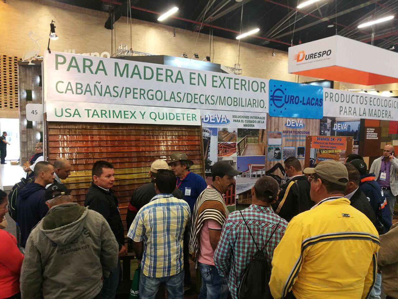 Quide presente en la Feria de la Madera de Colombia